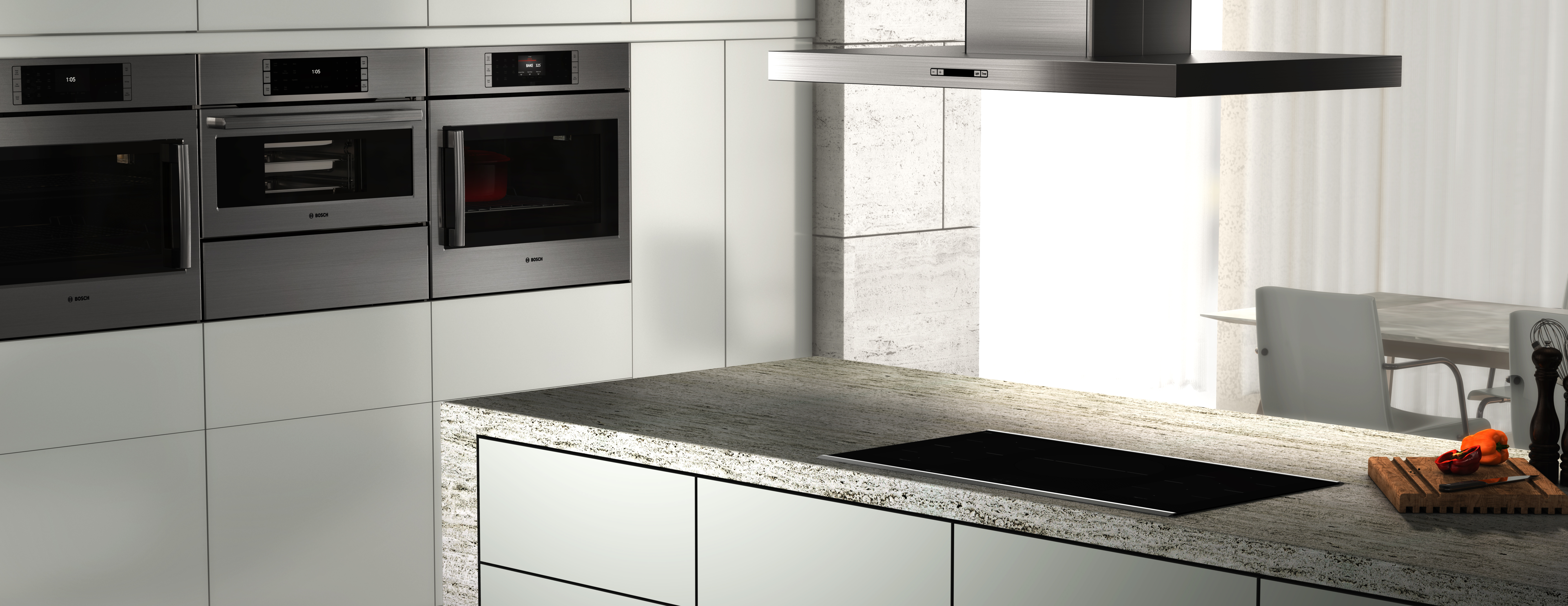- Bosch Benchmark Island Hood Induction Cooktop -