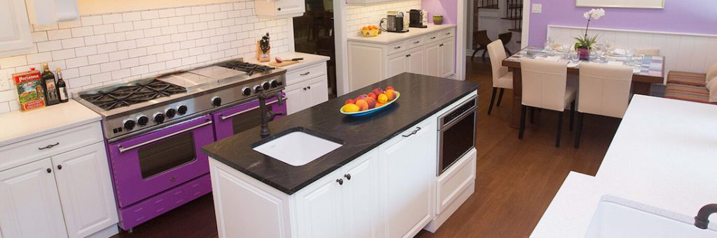 - Color of the Year BlueStar Purple Kitchen Header - La Cornue